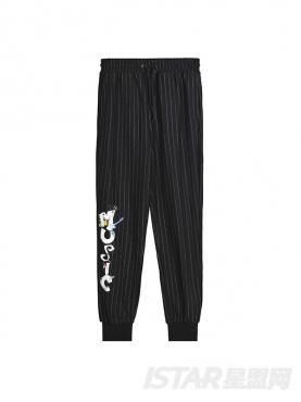 个性条纹印花装饰休闲裤【儿童款】