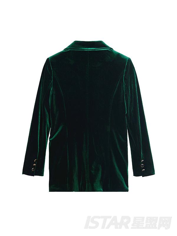 中性风丝绒西装套装