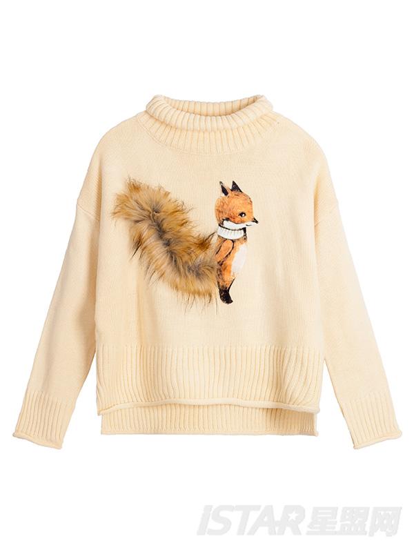 狐狸大尾巴针织衫