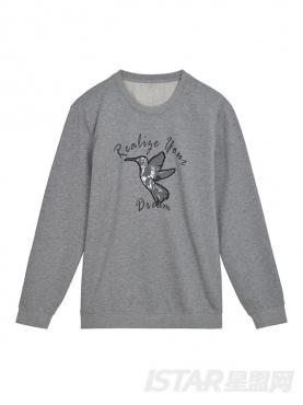 经典圆领设计时尚字母动物印花休闲纯棉卫衣