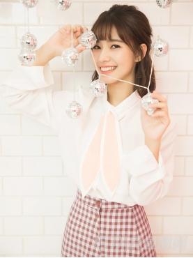 @高容方 可爱兔耳朵飘带装饰甜美优雅白衬衫