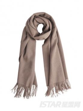 温暖棕色浪漫流苏舒适优雅纯羊毛围巾