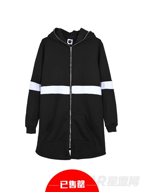 黑白拼接卫衣