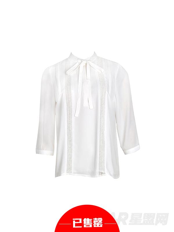 经典英伦风镂空系带衬衫