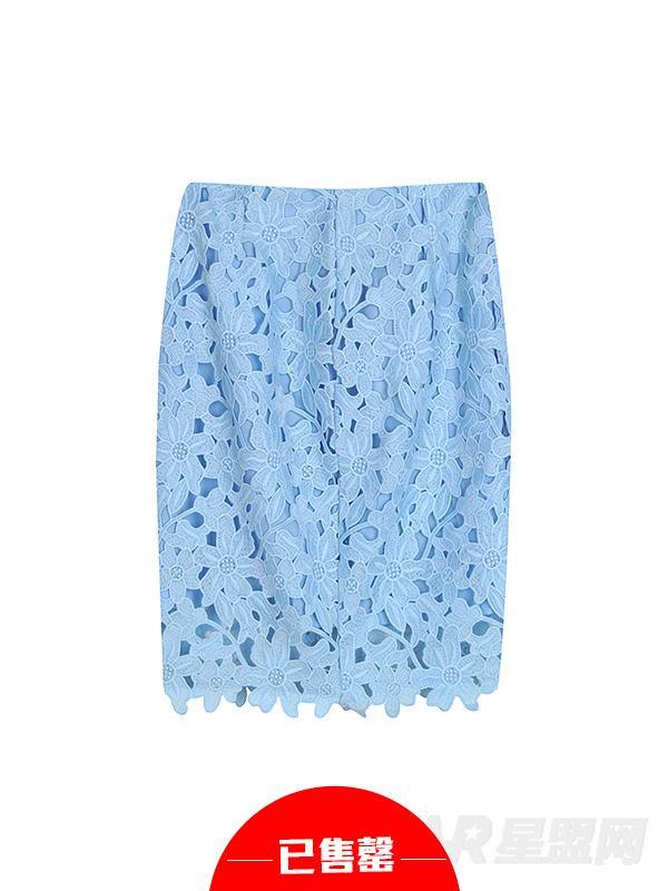 水溶蕾丝半身裙