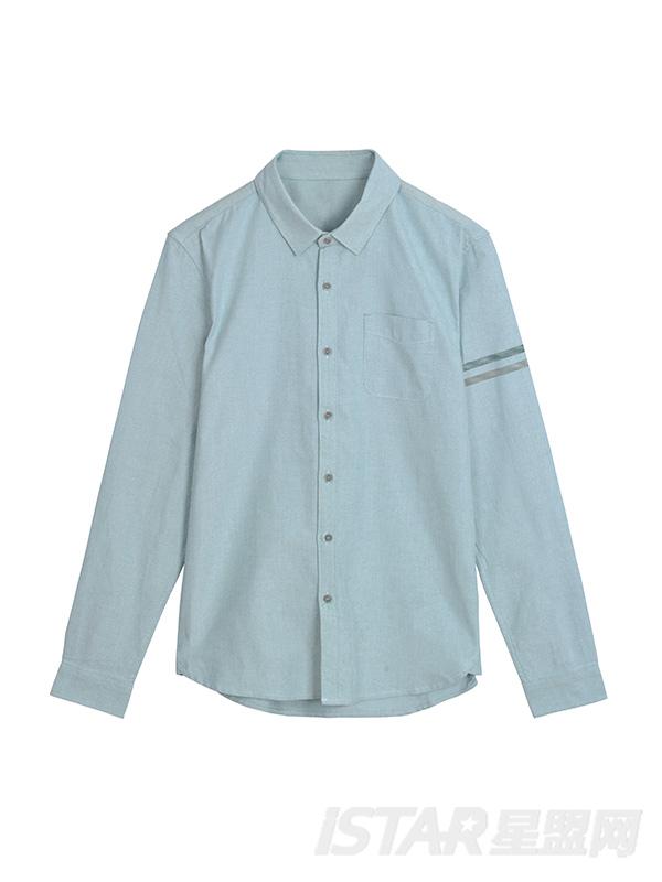 条纹印花衬衫