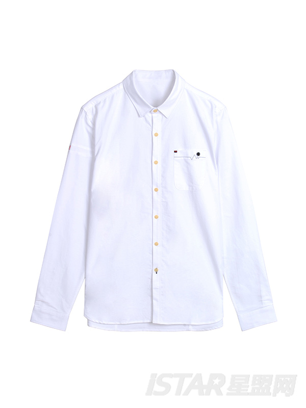 口袋设计休闲衬衫