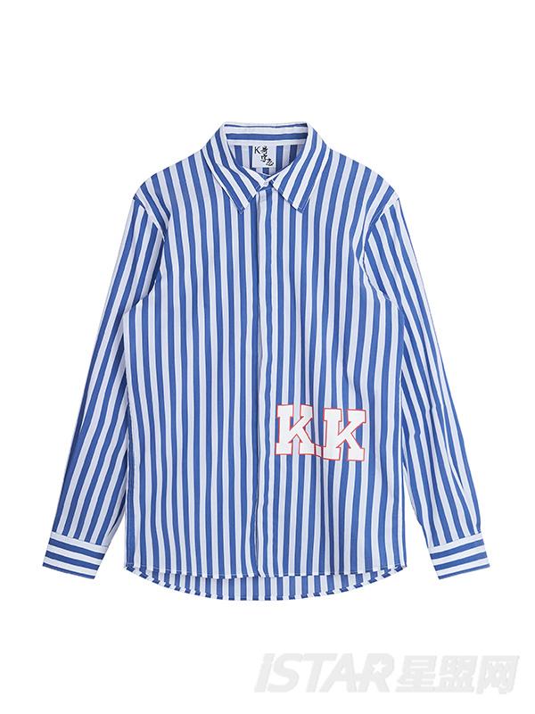 K字条纹衬衫
