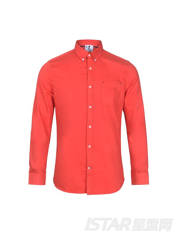 橘红色衬衫