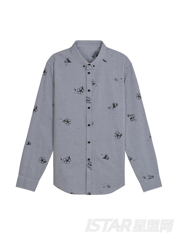小花印花衬衫