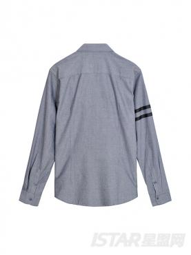 个性条纹牛津纺舒适纯棉休闲衬衫