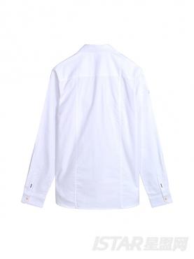 简约口袋装饰休闲舒适纯棉衬衫