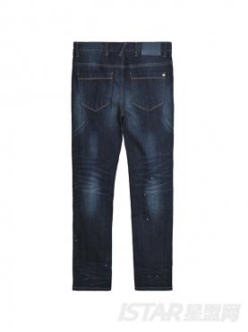 经典蓝修身舒适时尚休闲纯棉牛仔长裤
