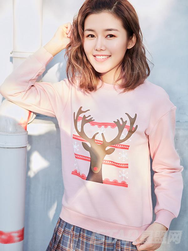 圣诞麋鹿卫衣