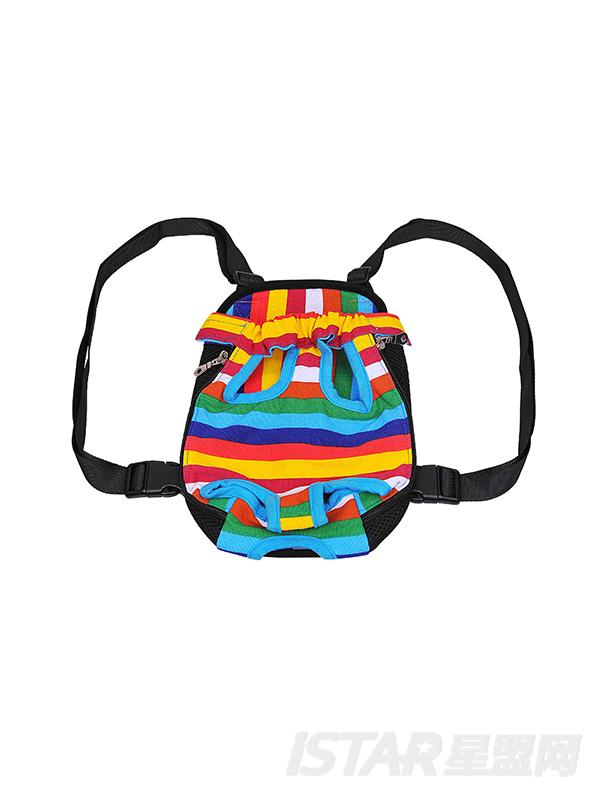 彩条便携式宠物背包