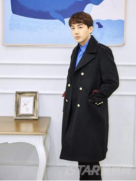 双排扣修身中长款优雅英伦范男款秋冬外套