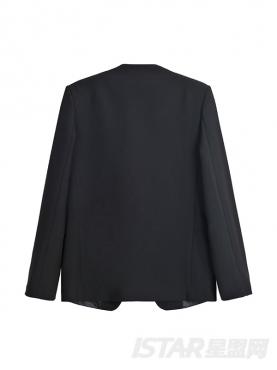 时尚无领小西装设计商务休闲百搭职业西服套装