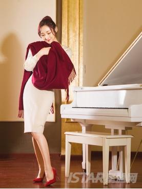 优雅纯色流苏装饰秋冬舒适羊绒保暖围巾