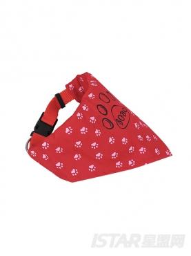 可爱狗狗爪印图案三角围脖