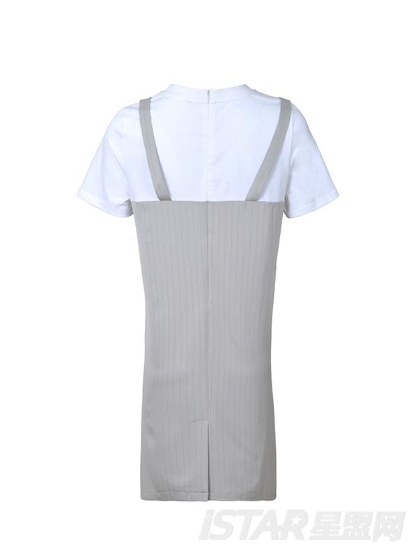 短袖T恤花边连衣裙