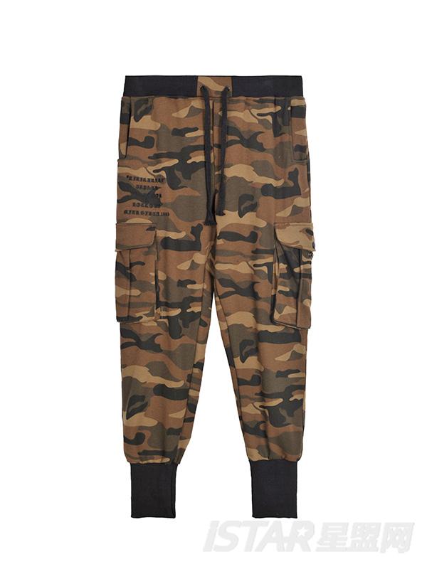 迷彩大口袋休闲裤