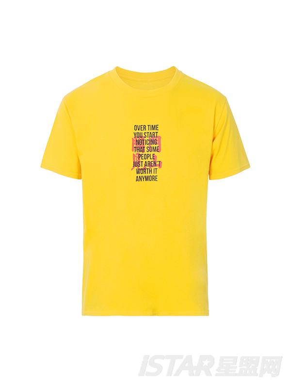 潮牌印花简约字母短袖T恤