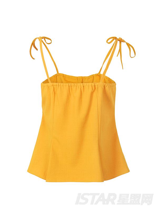 蝴蝶结系带修身吊带上衣