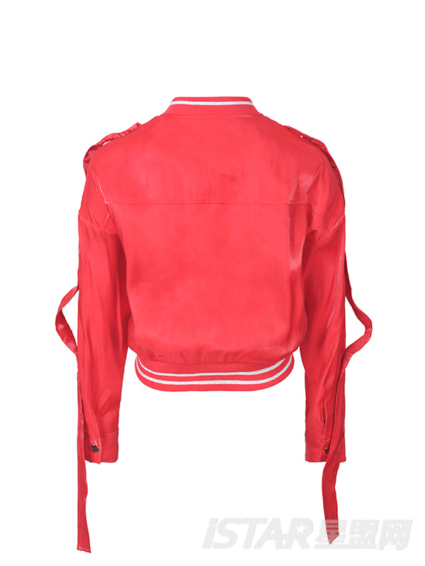 光感短款宽松长袖外套