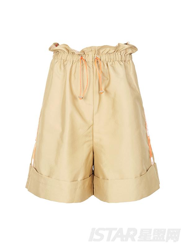 高腰花苞阔腿短裤