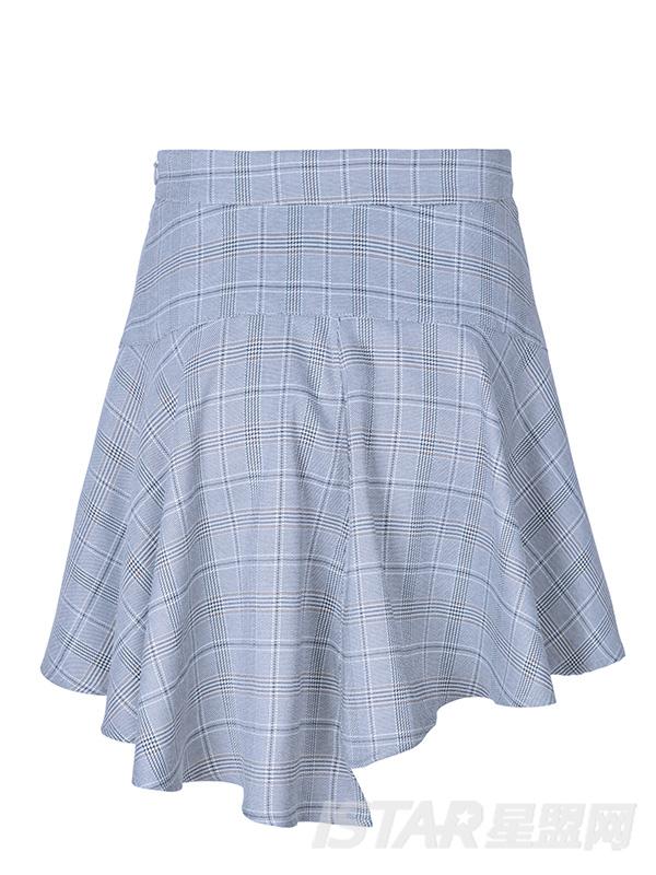 荷叶边包臀短裙