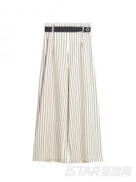 时尚条纹潮流宽松阔腿裤