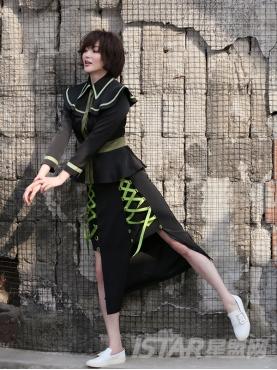 时尚绑带个性不对称设计优雅性感半裙