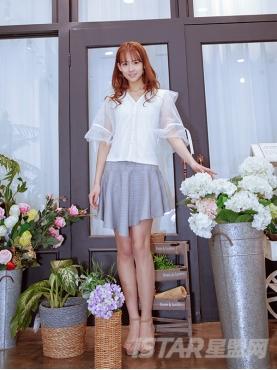 优雅灰甜美荷叶边裙摆时尚减龄包臀短裙