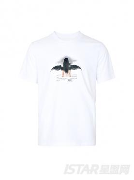 个性人物天使印花时尚白色百搭纯棉短袖T恤