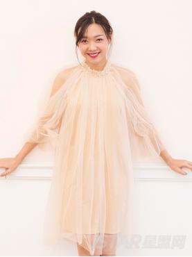 优雅纯色性感露肩仙女风纱裙