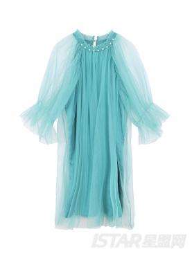 露肩仙气纱裙