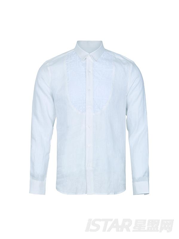 刺绣经典白衬衣