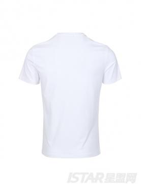 春夏纯白短袖男白色弹力圆领T恤