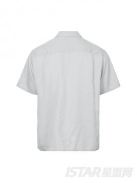 休闲翻领时尚宽松短袖舒适衬衣