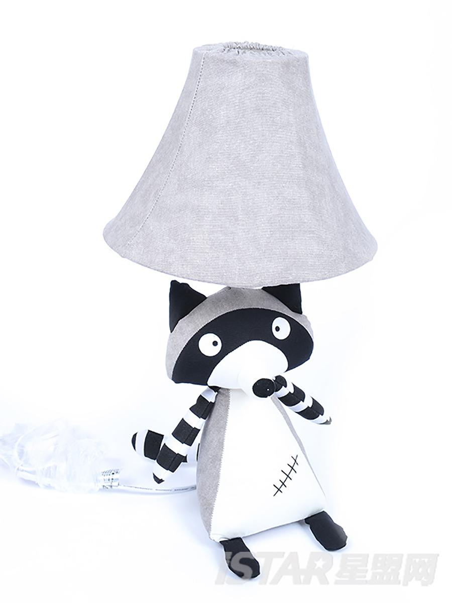 浣熊三角台灯 灰色