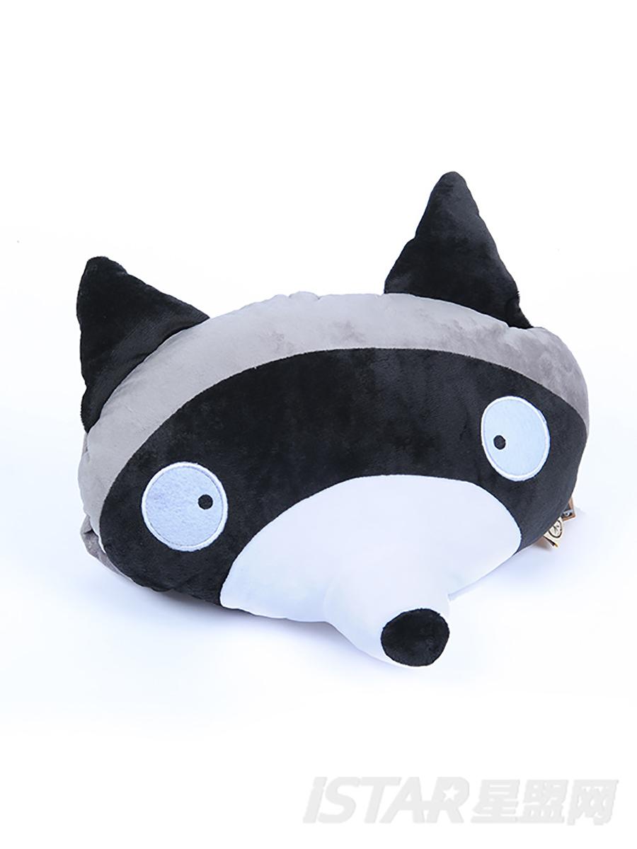 浣熊头异型抱枕