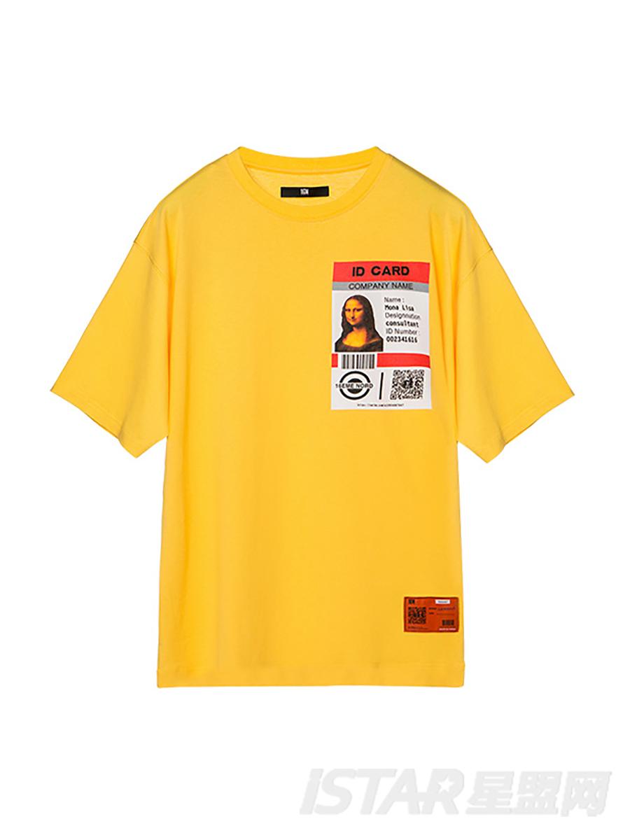圆领印花短袖T恤