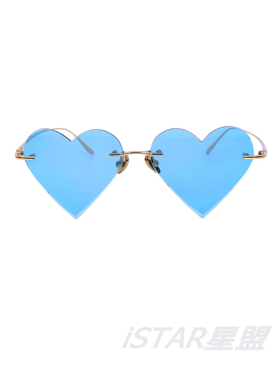 超轻眼镜 心形 蓝