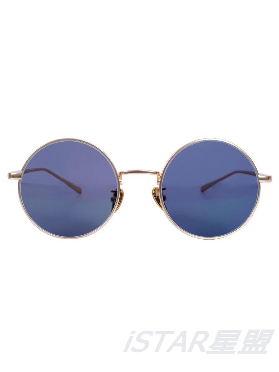 超轻眼镜 圆形 黑