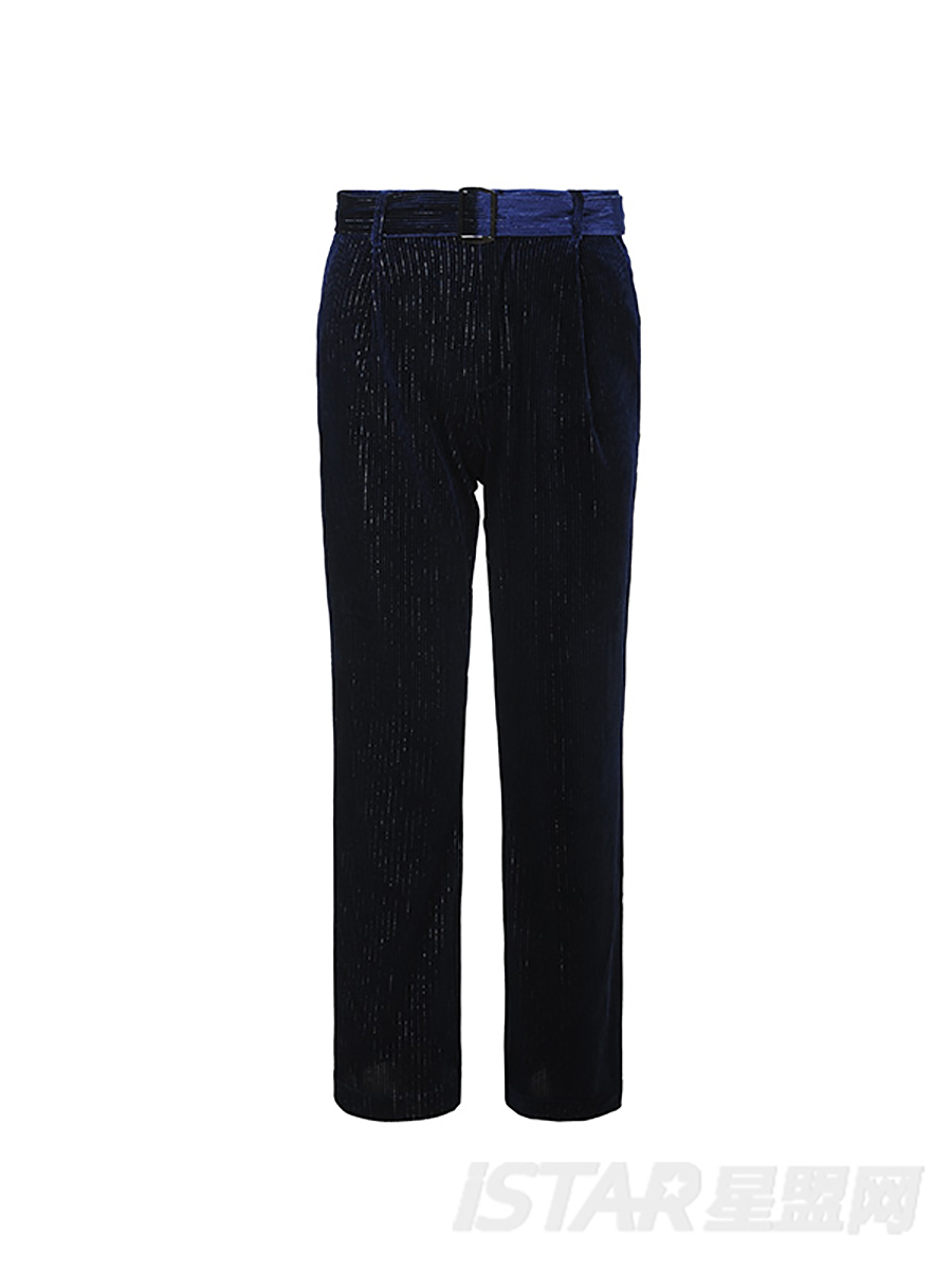 丝绒休闲裤