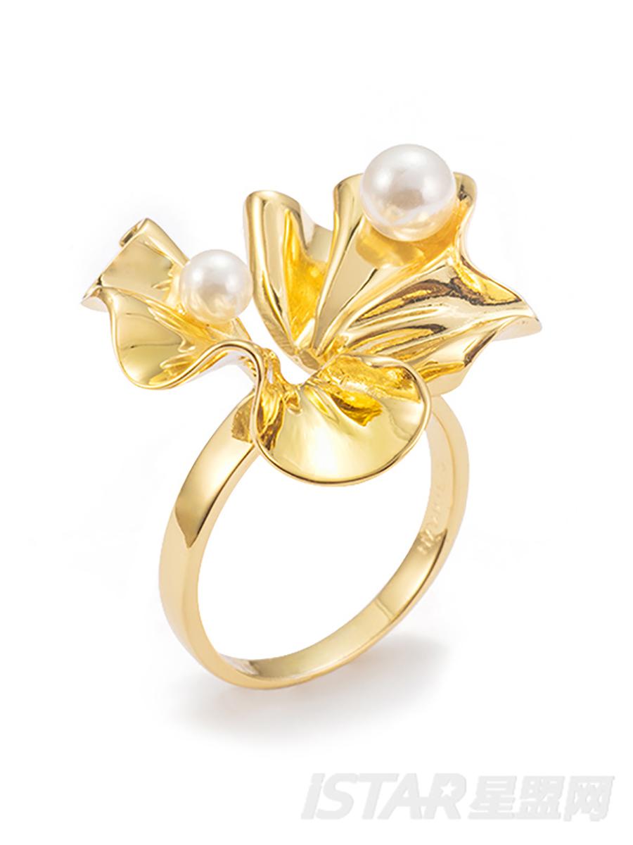 SECRET GARDEN 系列    花瓣珍珠 戒指