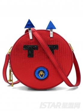 红色百搭斜挎机器人单肩包包女款手拿包