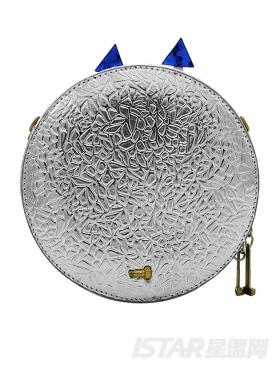 银色百搭斜挎机器人单肩包包女款手拿包