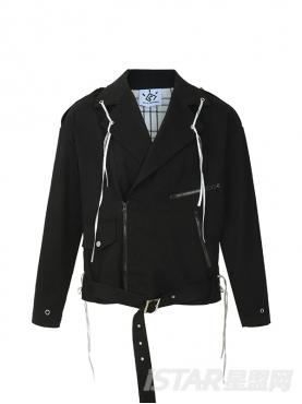 多口袋收口撞色线条装饰舒适保暖纯棉外套夹克