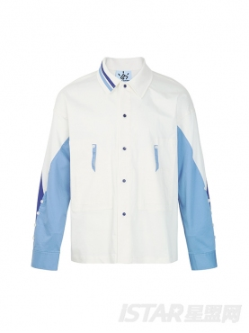 时尚拼色学院风保暖纯棉休闲外套